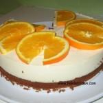 Appelsinfromasj på sjokoladebunn