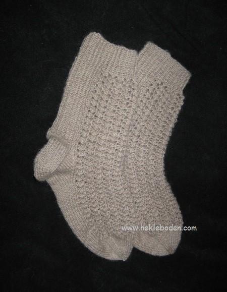Sokker med hullmønster