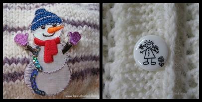 Snømann og knapper